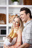 Beautiful couple in market — Stock Photo