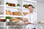 The client in a bakery — Stock Photo
