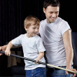 The small billiard fan — Stock Photo