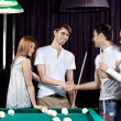 Billiard party — Stock Photo
