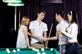 Billiard party — Stock Photo
