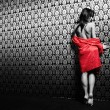 The girl in red — Stock Photo