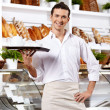 Affable waiter — Stock Photo #4239872