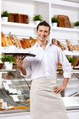 The affable waiter — Stock Photo