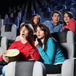 At a cinema — Stock Photo