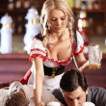 In the beer restaurant — Stock Photo