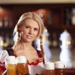 Waitress with beer — Photo #4248403