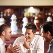 Stock Photo: Men's conversations