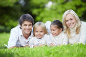 Young families — Stock Photo