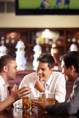 Men's conversations — Stock Photo