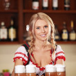 Young girl with beer - Foto Stock