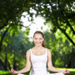 Stock Photo: Yoga in the Park