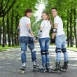 Young scooters - Stock Photo