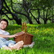 The man on picnic — Stock Photo