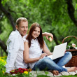 On picnic - Stock Photo