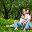 Enamoured in park — Stock Photo