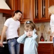 Quarrel of parents - Stock Photo
