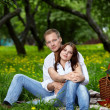 Young couple in park — Stockfoto #4512320
