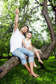Sitting on a tree — Stock Photo