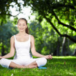 Stock Photo: Wommeditating