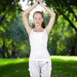 Yoga pose — Stock Photo #4593646