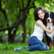 Girl with dog — Stock Photo #4593701