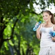 She leads a healthy lifestyle — Stock Photo