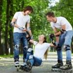 underhållande körning på rullarna — Stockfoto