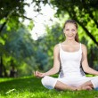 Meditation in the park — Stock Photo