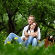 Romantic appointment in park — Stock Photo #4593974