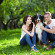 Couple with dog — Stok Fotoğraf #4604422