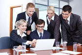 Employees in the office — Stock Photo
