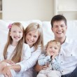Laughing family — Stockfoto