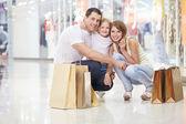 家族のショッピング — ストック写真