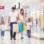 Family on shopping — Stock Photo