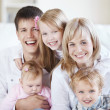 Laughing family — Stock Photo