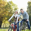 Couple on bicycles — Stock Photo #4716711