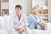 Couple quarreled at home — Stock Photo