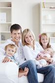 Família feliz — Foto Stock