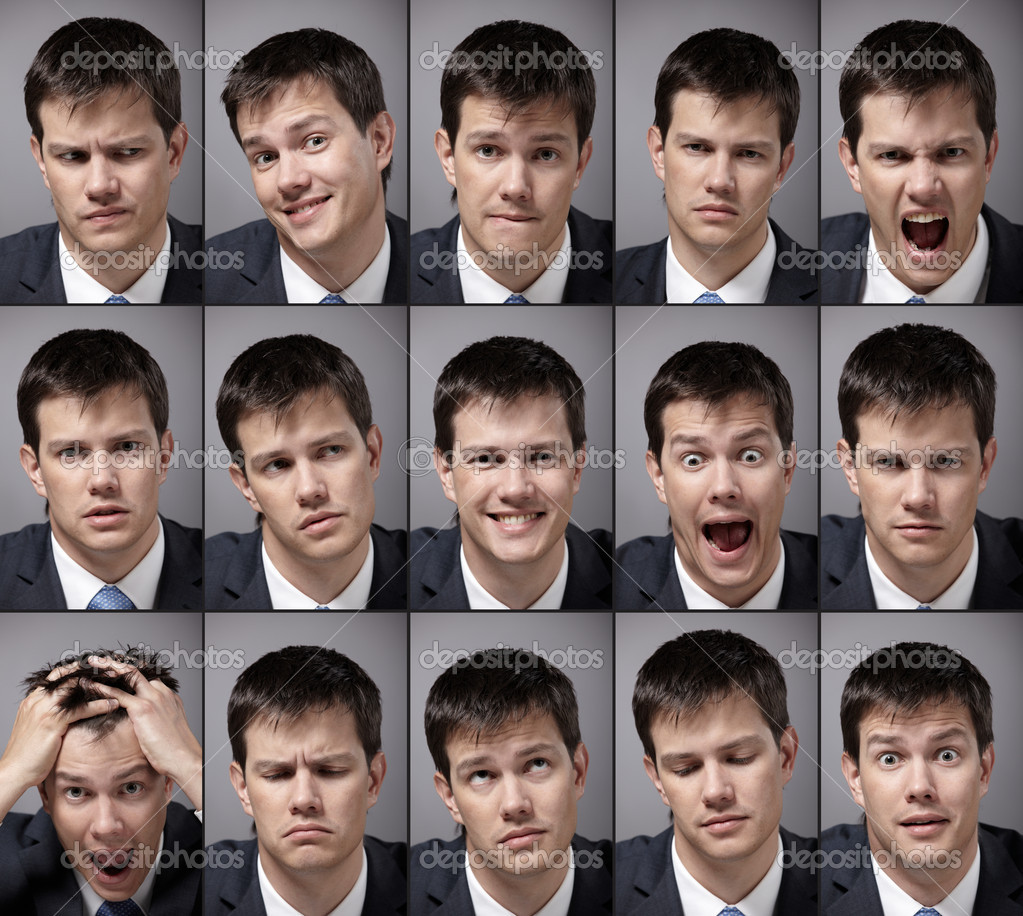 Image emotional man in a business suit — Stock Photo #4849586