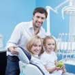 Stock Photo: Happy family dentistry