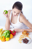 Healthy or unhealthy food — Stock Photo