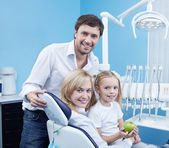 A happy family dentistry — Stock Photo
