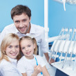 Stock Photo: Families in dental office
