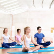 Young practice yoga — Foto Stock