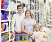 Family in shop — Stock Photo