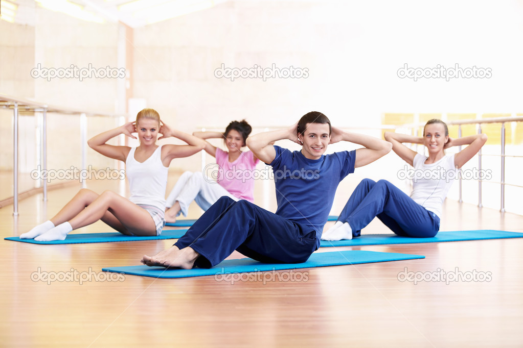 Attractive young involved in fitness  Stock Photo #5039939