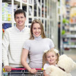 Family in shop — Stock Photo #5040063