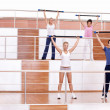 Group fitness classes — Stock Photo
