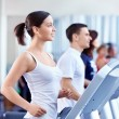 On treadmills — Stock Photo #5040135